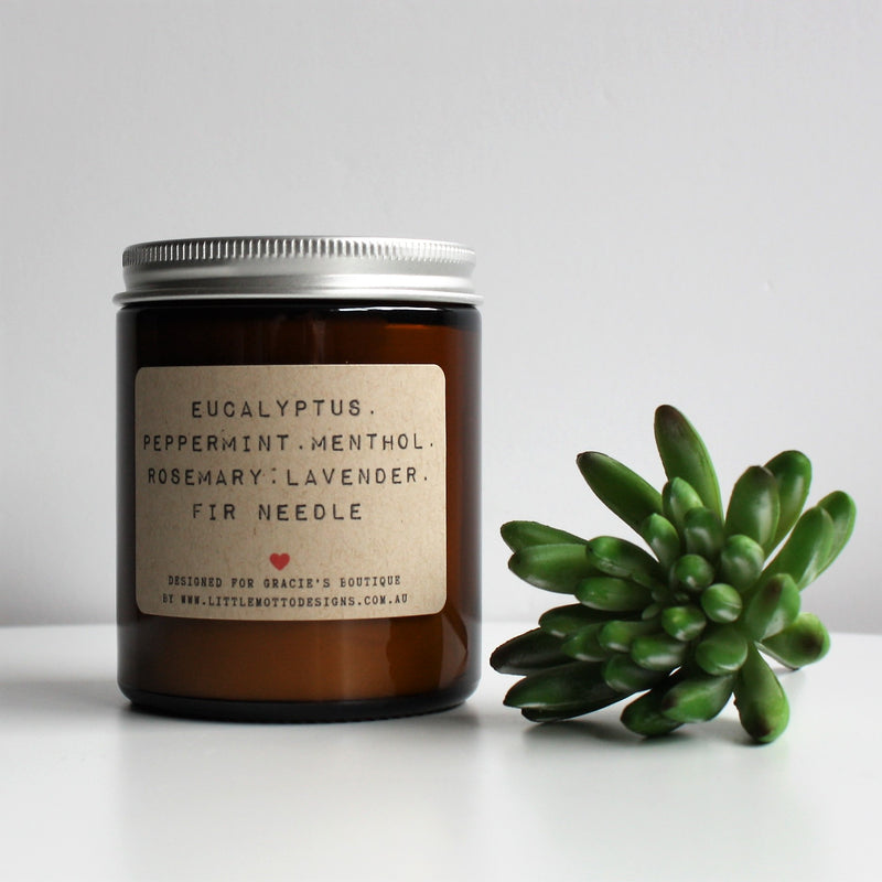 Breathe & Releive Amber Soy Candle