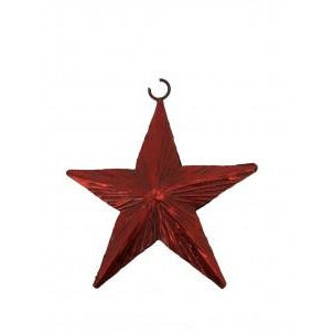 Christmas Decoration Red Foil Hanging Star