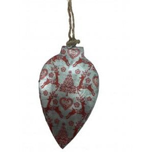 Christmas Decoration Red Iron Collection