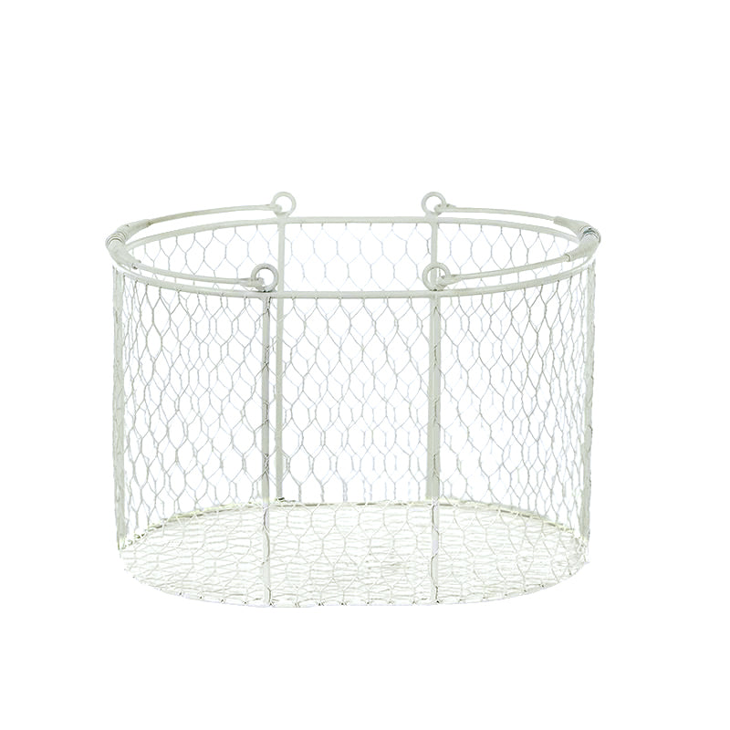 Patch Metal Oval Basket