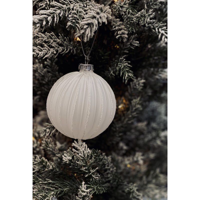 Christmas Decoration Bauble White/Silver