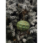 Christmas Decoration Green Hanging Faceted