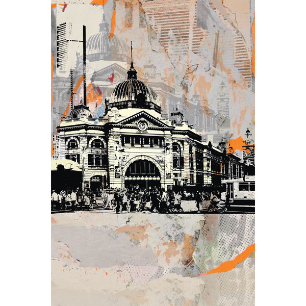 Tea Towel Flinders St Station