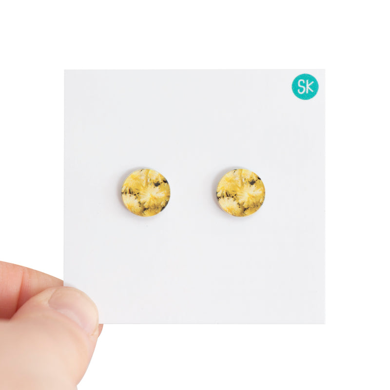 Earring Wattle Flower Stud