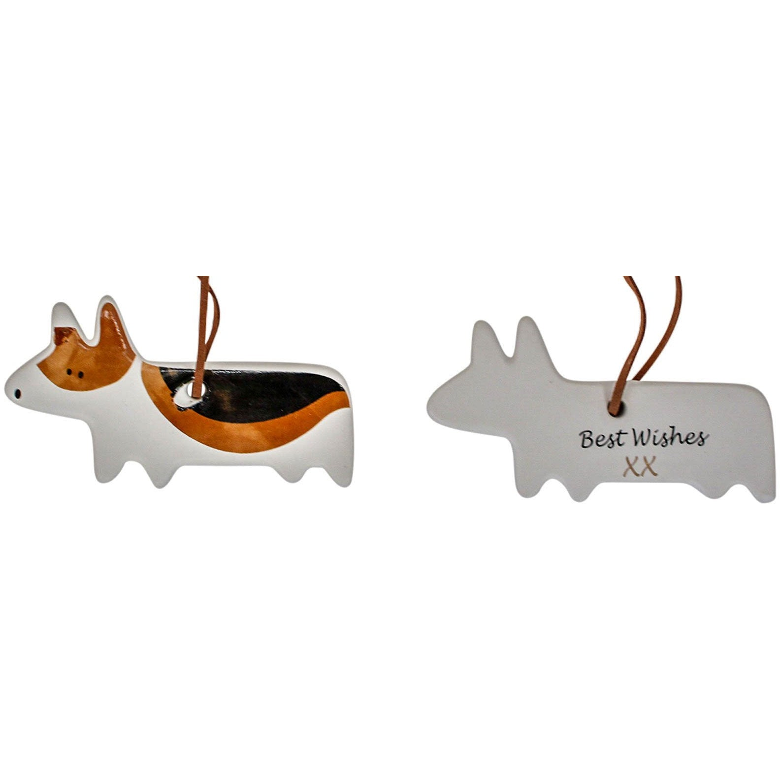 Hanging Ceramic Dog - Fido Best Wishes
