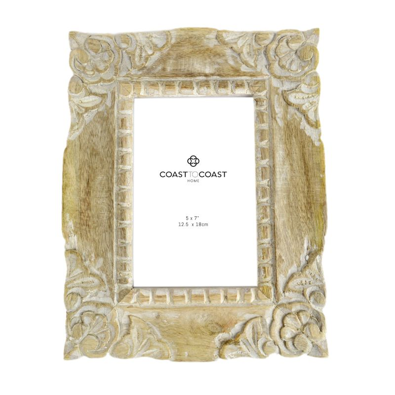 Cato White Wash Frame 5x7""