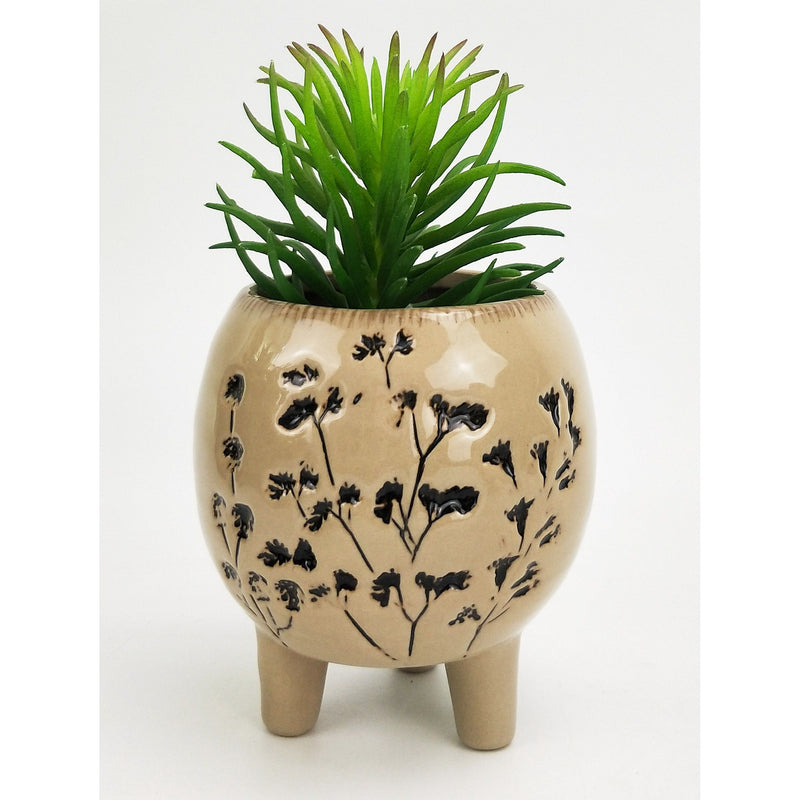 Aubrey Round Planter With Legs 10cm