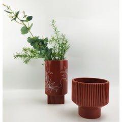 Planter Nova Leaf Terracotta