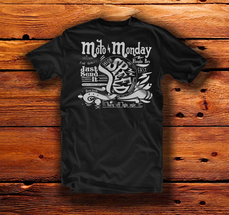 Moto Monday Quote Tee