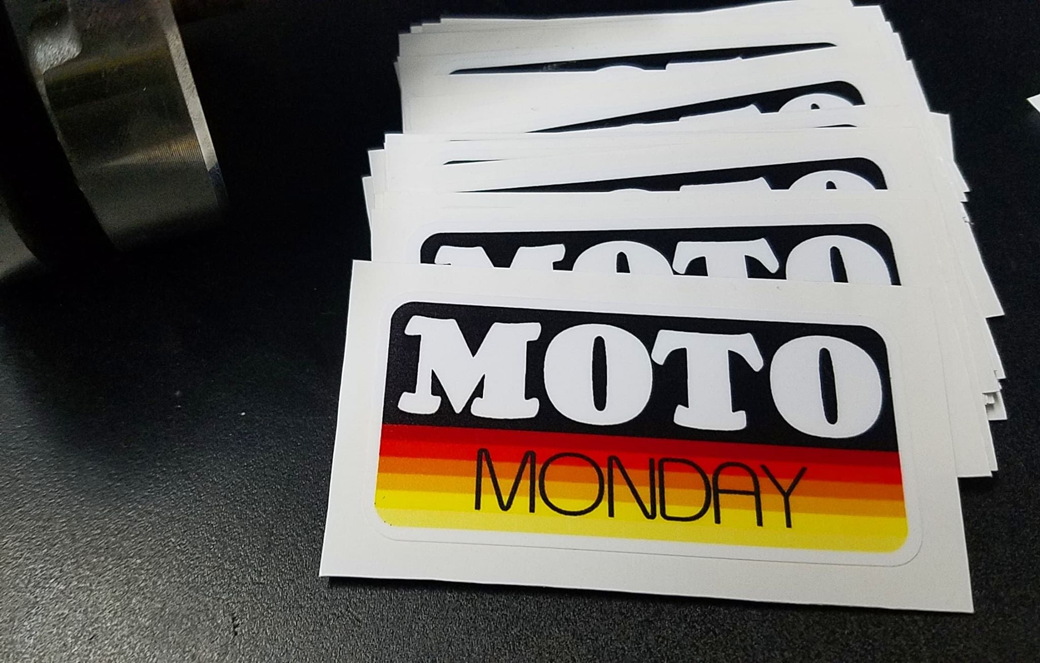 Moto Monday Sunset Sticker