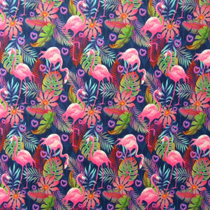 Flamingo print on spandex