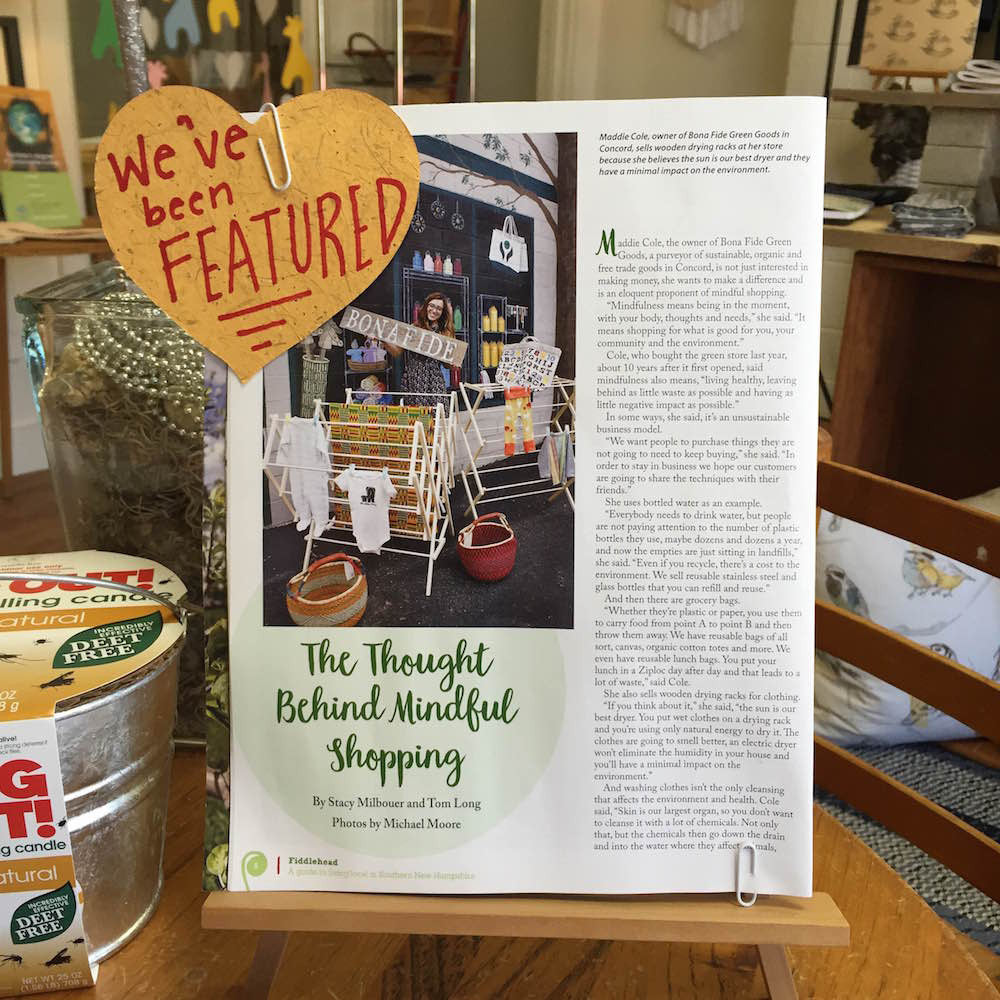 Featured in Fiddlehead Magazine NH