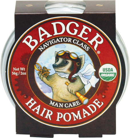 Natural Hair Pomade - Bona Fide Green Goods - Badger Balm - 1