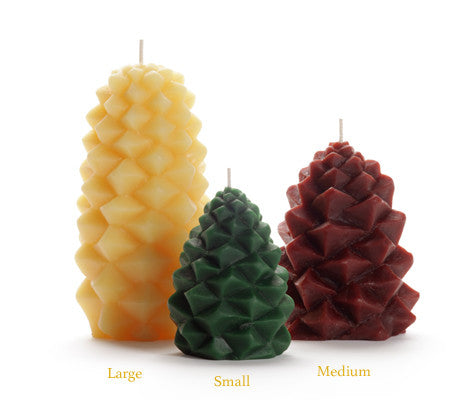 Beeswax Pinecone Candles - Bona Fide Green Goods - Big Dipper Wax Works