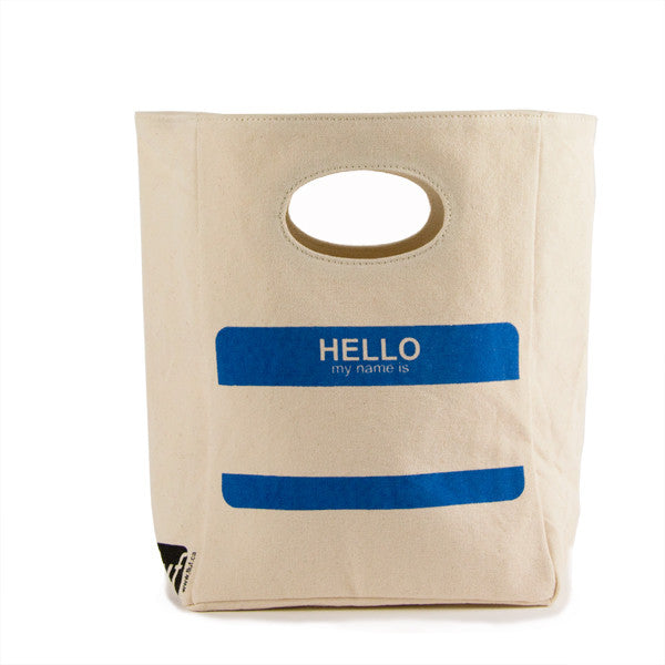 Organic Cotton Lunch Bag | Hello - Bona Fide Green Goods - Fluf - 1