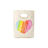 Organic Cotton Lunch Bag | Heart - Bona Fide Green Goods - Fluf - 1