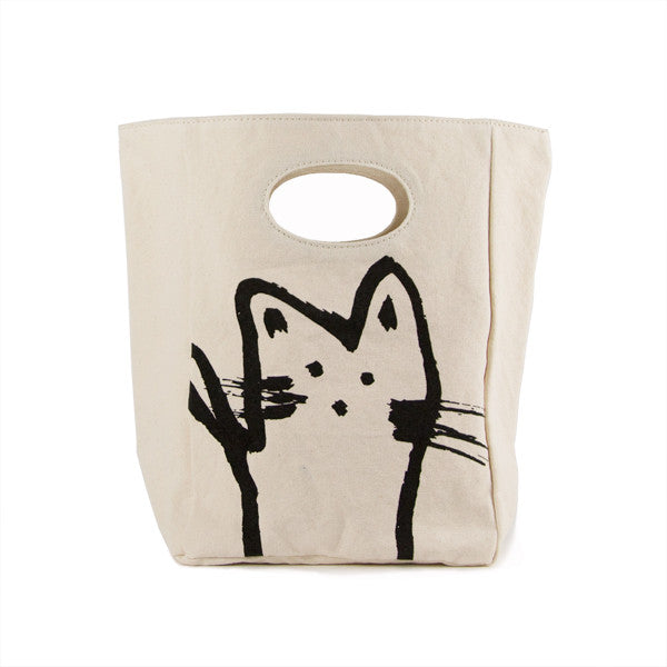 Organic Cotton Lunch Bag | Hey Cat - Bona Fide Green Goods - Fluf - 1