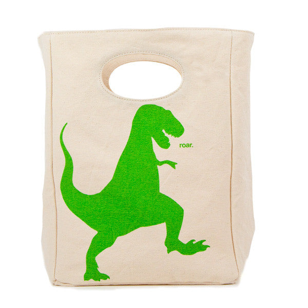 Organic Cotton Lunch Bag | T-Rex - Bona Fide Green Goods - Fluf - 1