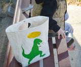 Organic Cotton Lunch Bag | T-Rex - Bona Fide Green Goods - Fluf - 2