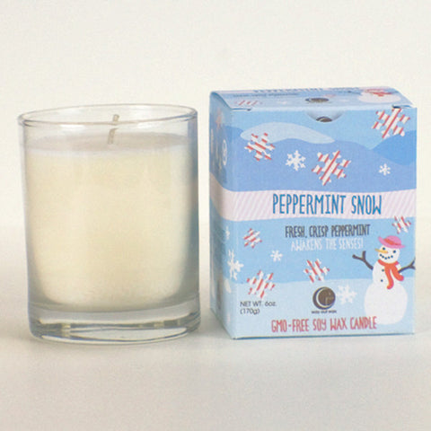 "Holiday ""Peppermint Snow"" Candle 