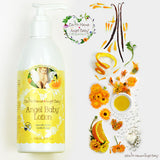 Natural Baby Lotion orange peels and flowers - Bona Fide Green Goods - Earth Mama Angel Baby