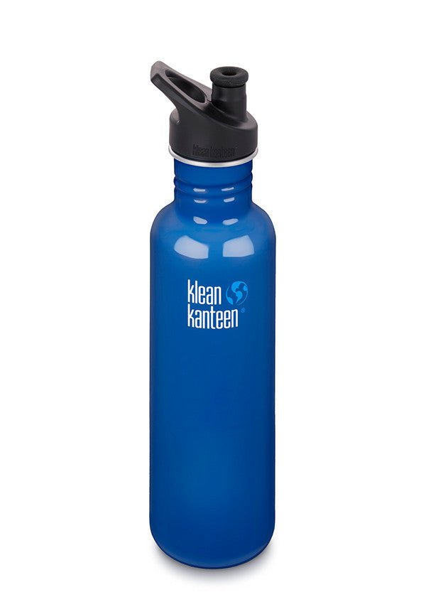 Stainless Steel Bottle | Classic 27oz | Blue Planet - Bona Fide Green Goods - Klean Kanteen