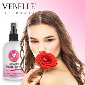 Rosewater Facial Toner by VEBELLE the Anti Aging Company