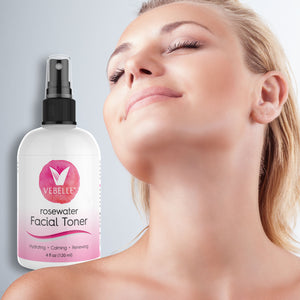 Rosewater Toner for Women by VEBELLE
