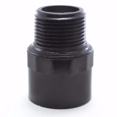 Black Schedule 40, Adapter, Slip x MPT - Savko Plastic Pipe & Fittings