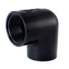 Black Schedule 40, 90 Degree Elbow, FPT x FPT - Savko Plastic Pipe & Fittings