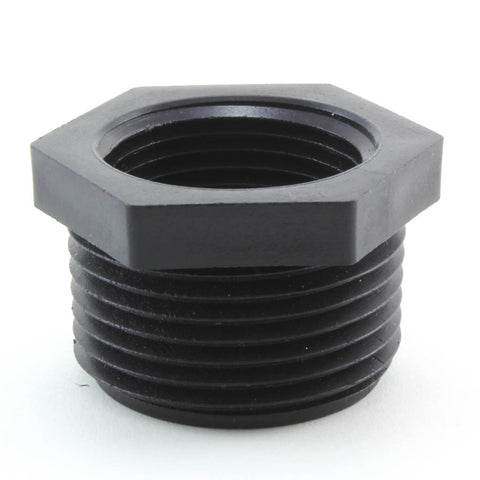 Black Reducing Bushing, MPT x FPT - Savko Plastic Pipe & Fittings