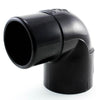 Black Schedule 40, 90 Degree Street Elbow, Slip x Spigot - Savko Plastic Pipe & Fittings