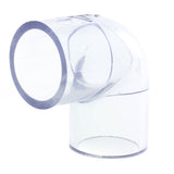 Clear Schedule 40, 90 Degree Elbow, Slip x Slip - Savko Plastic Pipe & Fittings