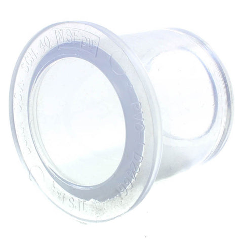 Clear Schedule 40, Reducing Bushing, Slip x Spigot - Savko Plastic Pipe & Fittings