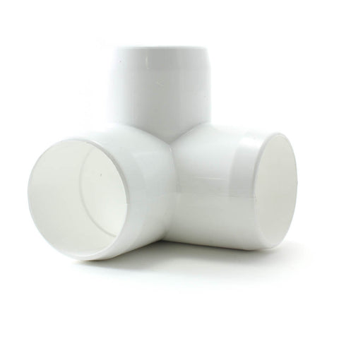 PVC White, Furniture Fitting, 3 Way Ell - Savko Plastic Pipe & Fittings