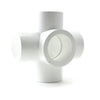 PVC White, Furniture Fitting, 5 Way Cross - Savko Plastic Pipe & Fittings