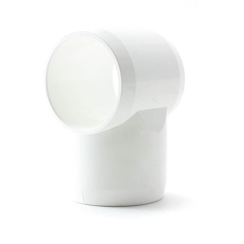 PVC White, Furniture Fitting, Slip through Tee - Savko Plastic Pipe & Fittings