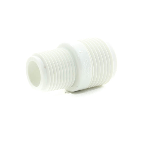 "PVC Garden Hose Adapter, 3/4"" MHT x 1/2"" MPT - Savko Plastic Pipe & Fittings - 1"