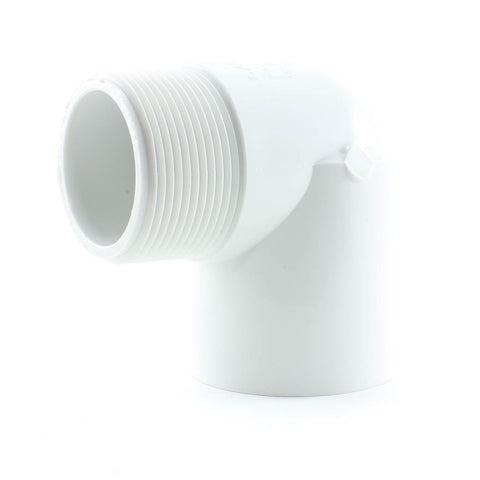 PVC Schedule 40, 90 Degree Street Elbow, Slip x MPT - Savko Plastic Pipe & Fittings