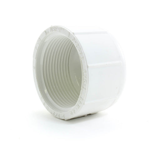 PVC Schedule 40 Threaded Cap - Savko Plastic Pipe & Fittings - 2