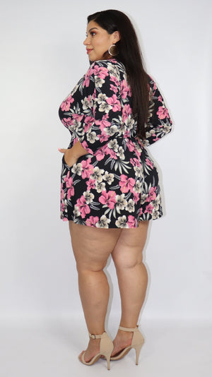 Summer Love Letter Romper (Black)