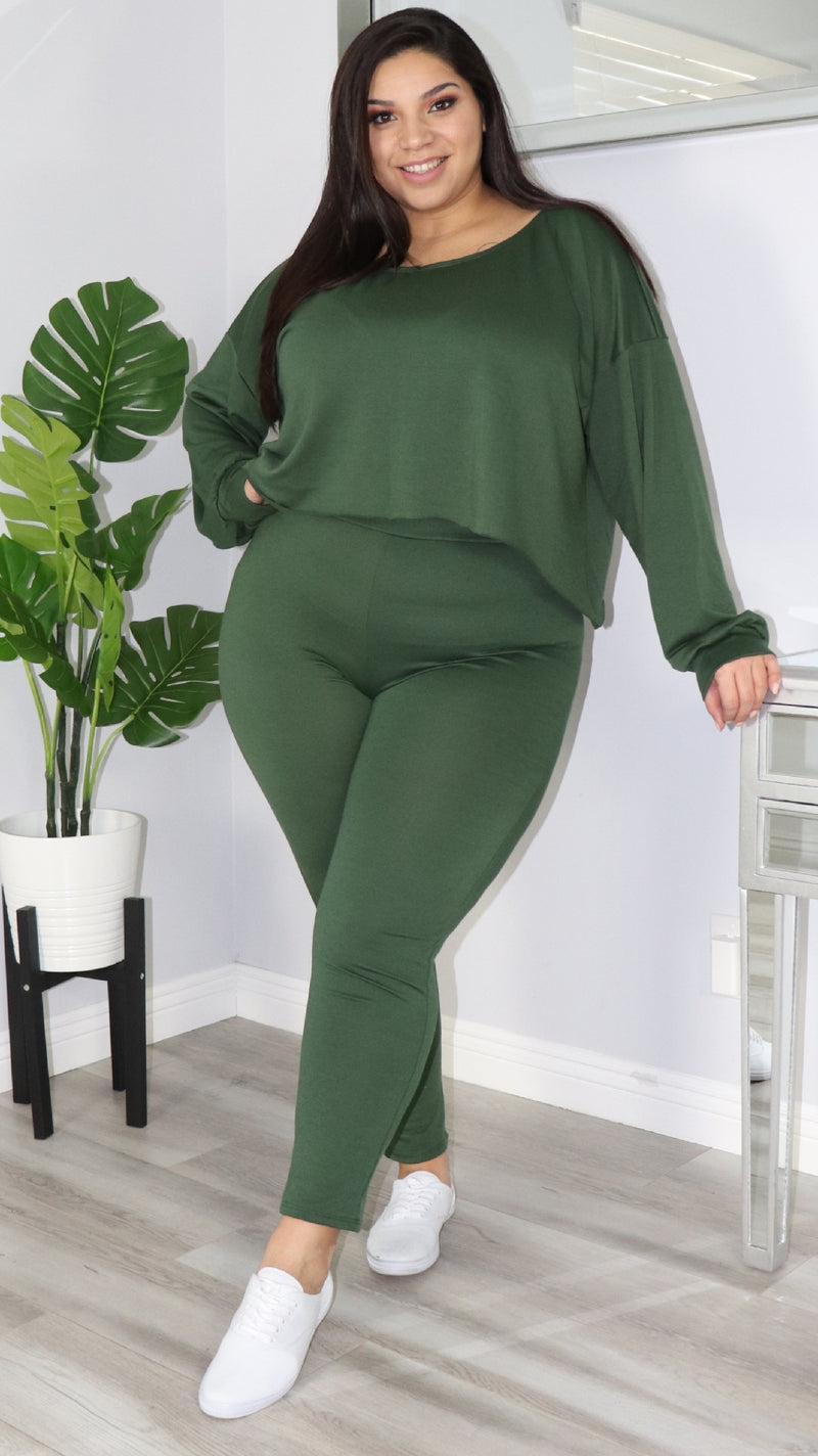 Cozy Lounge 2 Pc Set (Olive)