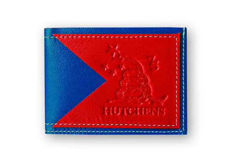 Leather Card Wallet - Red and Blue