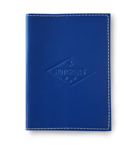 Leather Passport Book - Blue Red