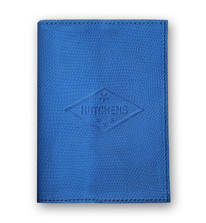 Blue Leather Passport Cover