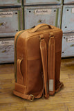 Leather backpack - Full-grain Burnt Amber