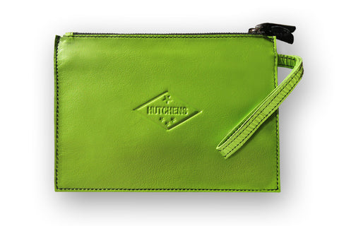 Admin Case - Pale green leather pouch