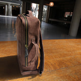 Leather backpack -Nubuck in Raw Amber