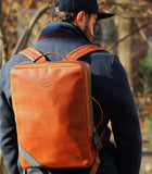 Leather backpack - Oxide Ochre