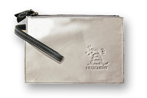 Admin Case - Black and white leather pouch